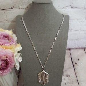 Vince Camuto Silver Geometrical Pendant Necklace